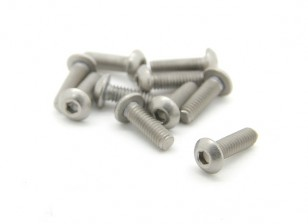 Titanio M2.5 x 8 mm Cúpula tornillo de cabeza hexagonal (10pcs / bag)