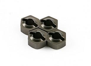 Cubo de la rueda de titanio (4pcs) - Basher 1/16 Mini Nitro Circus MT