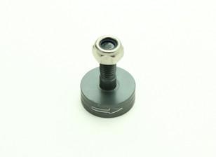 CNC de aluminio M6 lanzamiento rápido de auto-apriete adaptador Prop - Titanium (Prop lateral) (sentido horario)