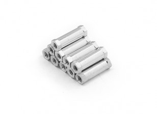 Ligera Ronda de aluminio Sección espaciador M3 x 17mm (10pcs / set)