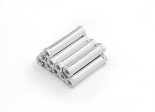 Ligera Ronda de aluminio Sección espaciador M3 x 25mm (10pcs / set)