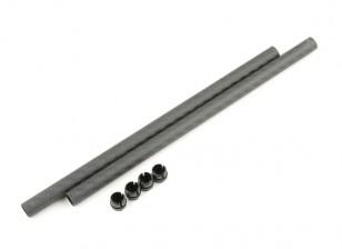 Tarot FY650 Ironman 650 200x10mm 3K carbono del tubo (2pcs)