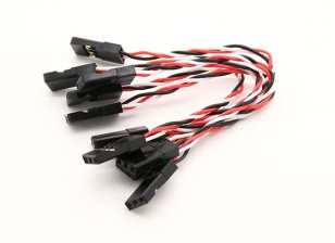 Súper Flex 26 AWG silicona servos para la transferencia de vibración mínima al FC (JR) 5pcs 80mm / bolsa