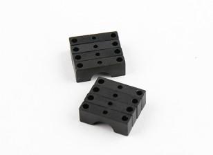 Negro anodizado de doble cara del tubo del CNC de aluminio de 8 mm Diámetro de la abrazadera