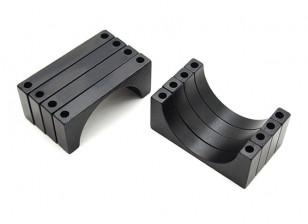 Negro anodizado CNC de aluminio de 5 mm 28 mm Diámetro del tubo de sujeción