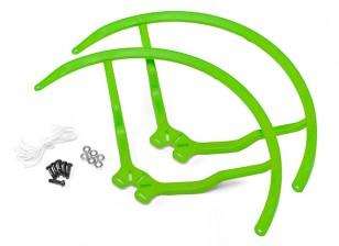 8 pulgadas de plástico universal multi-rotor hélice Guardia - Verde (2set)