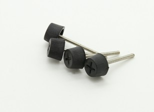 Nylon Cabeza del metal M2x20mm Tornillo de mariposa Para cardán Gopro Monte (4pcs)