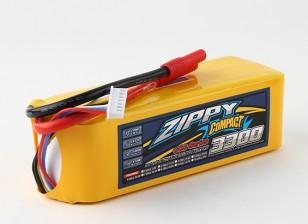 ZIPPY Compacto 3300mAh Lipo 6s 60c Paquete