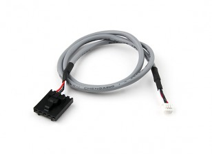 400mm 5 Pin Molex / JR para 4 plomo blindado Blanco Pin Conector
