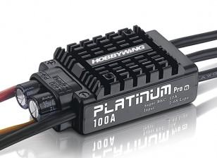Hobbywing Platinum 100A V3 sin escobillas ESC w / 10A BEC