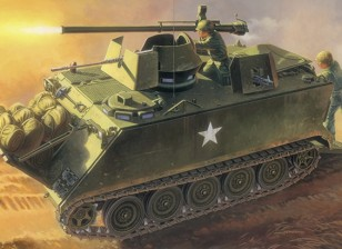 Italeri 1/35 Escala M-1 13 ACAV con 106 mm Kit de armas Modelo Plástico