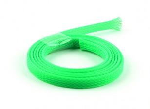 Guardia de alambre de malla verde de neón de 6 mm (1m)