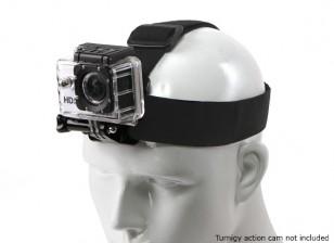 Cinta de la cabeza ajustable con elástico para GoPro / Turnigy Actioncam