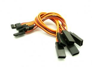 20cm JR 26 AWG cable de prolongación recta L a V 5pcs