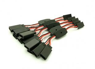 6cm Futaba 26 AWG recta 2F Cable a 1M Y 5pcs plomo