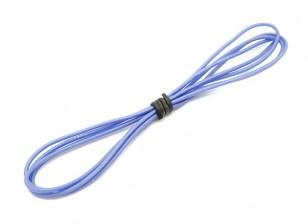 Turnigy alta calidad de silicona 24AWG Wire 1m (azul)
