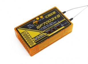 OrangeRx SF7003XS Futaba Receptor de 7 canales 2.4Ghz FHSS compatible w / FS, SBus y 3 ejes Estabilizador