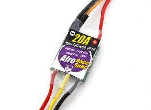 Controlador afro Race Spec Mini 20Amp Opto Multi-Velocidad del rotor