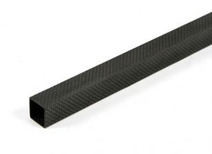 Tubo cuadrado de la fibra de carbono de 20 x 20 x 800 mm