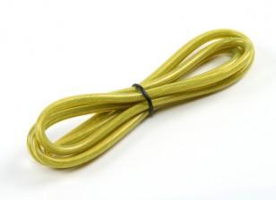 Turnigy Pure-silicona de alambre 12 AWG 1m (amarillo traslúcido)
