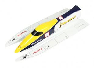 Avispón Fórmula-1 Túnel del casco del barco que compite 650mm (casco del barco solamente)