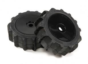 1/8 escala negra Ruedas Dish Pro con la paleta Estilo Neumáticos (2pc)