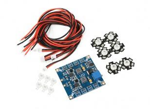 Frecuencia Hexacopter ajustable LED Set módulo de luz