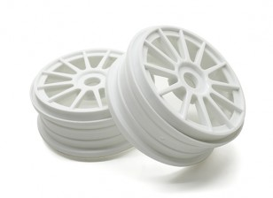 Basher 1/8 Escala Rally 12 Spoke Cuenca del Blancos de Rueda 17mm hexagonal (2 piezas)