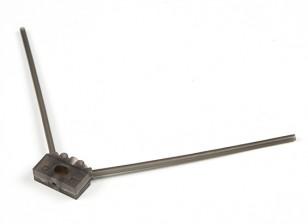 Turnigy 2.4G antena de montaje para competir con aviones no tripulados (gris)