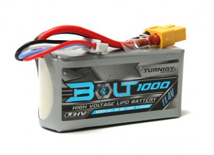 Perno Turnigy 1000mAh 3S 11.4V 65 ~ 130C alto voltaje Lipo Pack (LiHV)