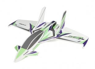 HobbyKing primer Jet Pro - Glue-N-Go Series - Kit de Cartón pluma (verde / púrpura)