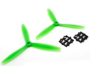 GemFan 6040 GRP 3-Blade Propulsores CW / CCW Conjunto Verde (1 par)