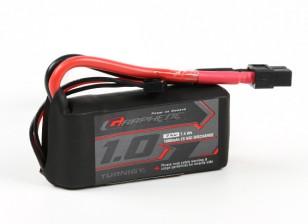 El grafeno Turnigy 1000mAh LiPo 2S 65C del paquete w / XT60