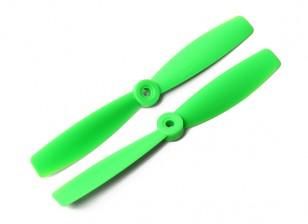 DYS Bull Nose plástico Propulsores T6045 (CW / CCW) (Verde) (2 unidades)