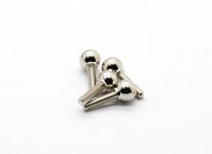 La rótula B (4pcs) - Basher Rocksta 1/24 4WS Mini Rock Crawler