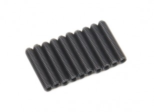 De metal tornillo de cabeza hendida M3x16-10pcs / set