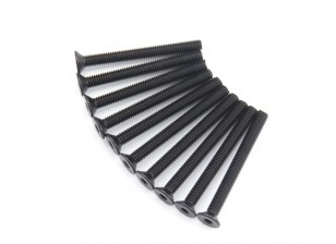Plano del metal Machine Head Tornillo hexagonal M4x40-10pcs / set