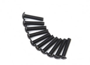 Ronda de metal Machine Head Tornillo hexagonal M4x18-10pcs / set