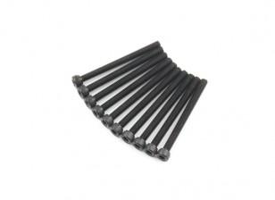 Zócalo de metal Machine Head Tornillo hexagonal M4x45-10pcs / set