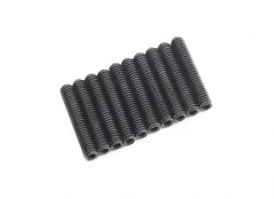 De metal tornillo de cabeza hendida M4x22-10pcs / set