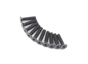Plano del metal Machine Head Tornillo hexagonal M5x22-10pcs / set