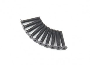 Plano del metal Machine Head Tornillo hexagonal M5x30-10pcs / set