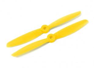 Hobbyking 5040 Poliéster / nylon amarillo CW / CCW Conjunto