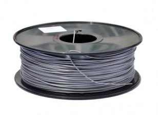HobbyKing 3D Filamento impresora 1.75mm PLA 1kg Carrete (plata metálico)