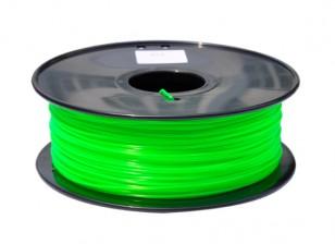 HobbyKing 3D Filamento impresora 1.75mm PLA 1kg de cola (verde translúcido)