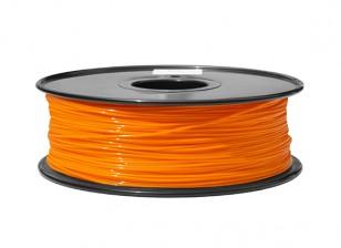 HobbyKing 3D Filamento impresora 1.75mm ABS 1kg Carrete (P.021C Naranja)