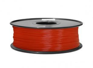 HobbyKing 3D Filamento impresora 1.75mm ABS 1kg Carrete (fluorescente roja)