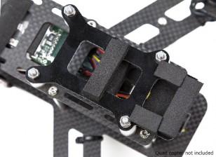 Lumenier QAV250 fibra de carbono amortiguación de vibraciones de la placa de la cámara