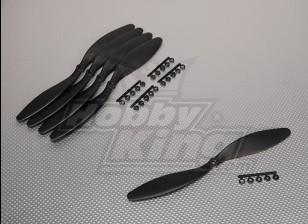 GWS Estilo Slowfly hélice 10x4.7 Negro (CCW) (5pcs)