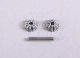 Dif. Engranajes cónicos S. W / Eje (1PC / Bag) - A2016T y A3002